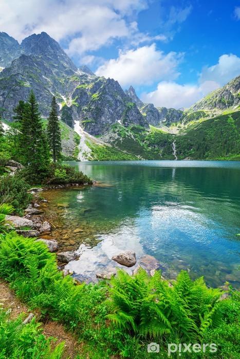 Vinilo Pixerstick Eye of the lake mar en las montañas Tatra, Polonia - Temas