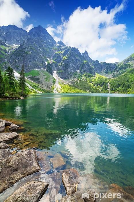 Vinyl Fotobehang Oog van de zee meer in Tatra gebergte, Polen - Thema's