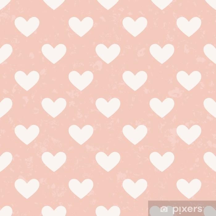 seamless pink heart pattern Vinyl Wall Mural - Happiness