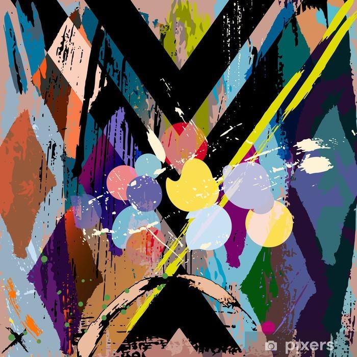Papier peint vinyle Composition abstraite de fond, avec des coups, projections et rhom - Styles