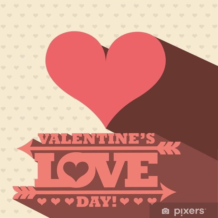 Poster Liebe - Zeichen und Symbole
