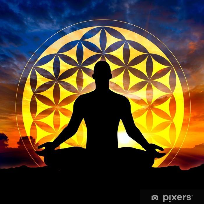 Vinilo Pixerstick Flor de la meditación Vida - Salud