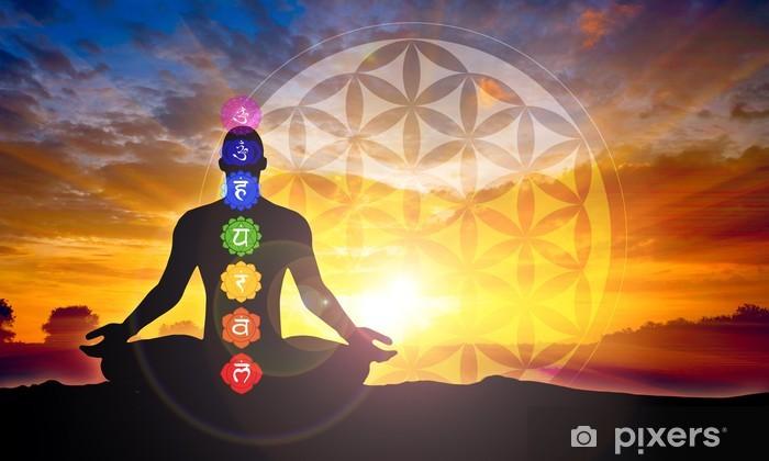 Vinilo Pixerstick Meditación - Salud