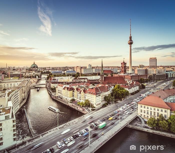 Berlin Cityscape Pixerstick Sticker - Berlin