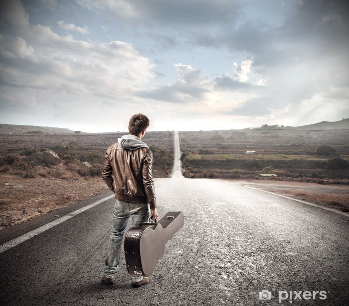 Plakat Gitarzysta na drodze - Rolnictwo