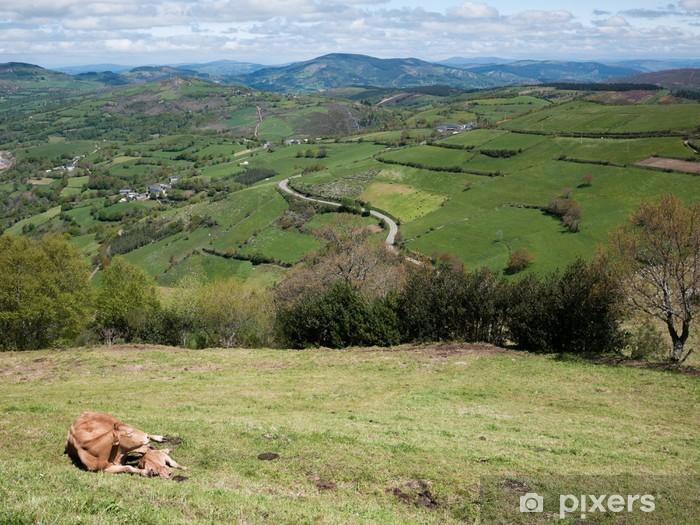 Naklejka Pixerstick Cebreiro - Krajobraz wiejski