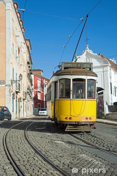 Lisbonne : Tram Jaune - Ligne 28 Vinyl Wall Mural - European Cities