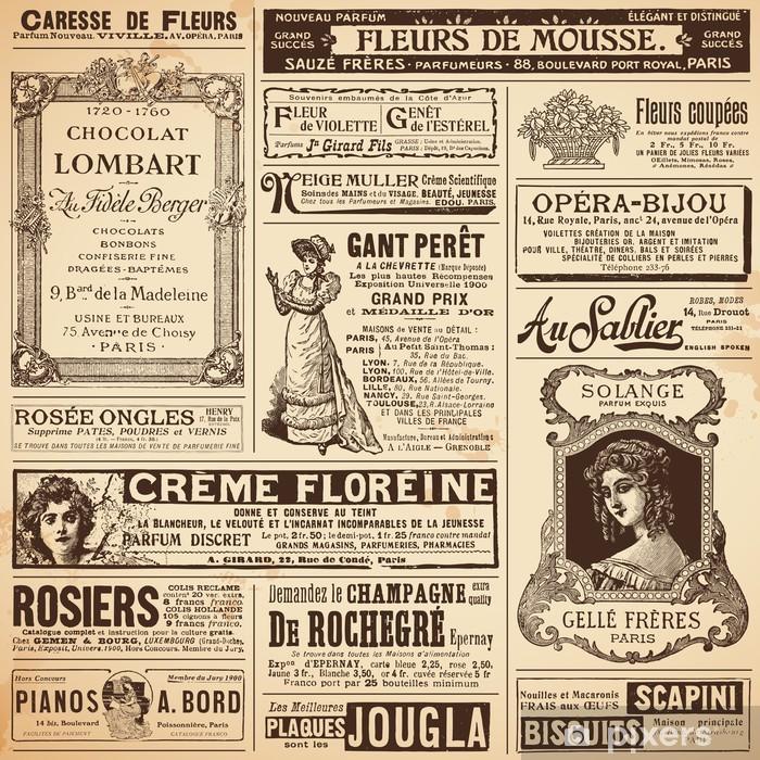 Papier peint vinyle Fond / modèles en annonces français vintage sur les sujets de dames - Styles