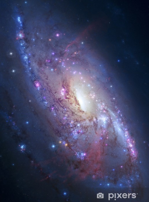 Naklejka Pixerstick Galaktyka spiralna w przestrzeni kosmicznej. elementy zdjęcia dostarczone przez NASA - Wszechświat