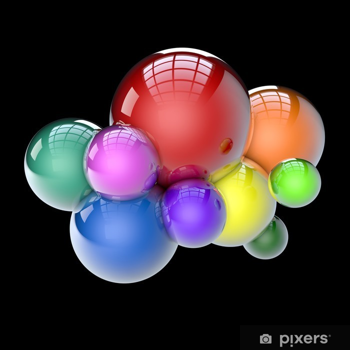 the colored balls Vinyl Wall Mural - Abstract