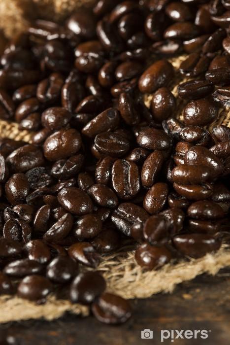 Fototapeta winylowa Ziarna Kawy organiczny Ciemny - Tematy