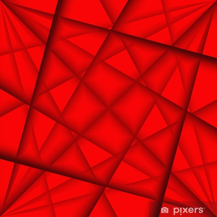 Adesivo Astratto Sfondo Rosso Pixers Viviamo Per Il Cambiamento