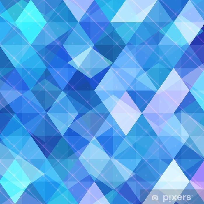 Abstrakt blå baggrund, business og teknologi koncept Vinyl fototapet -