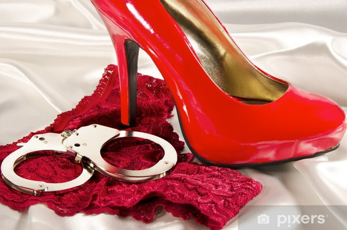 Autocolante Pixerstick Handcuffs and high heel - Temas