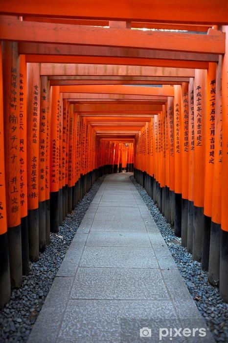 Papier peint vinyle Red Tory au Sanctuaire Fushimi Inari porte à Kyoto, Japon - Thèmes