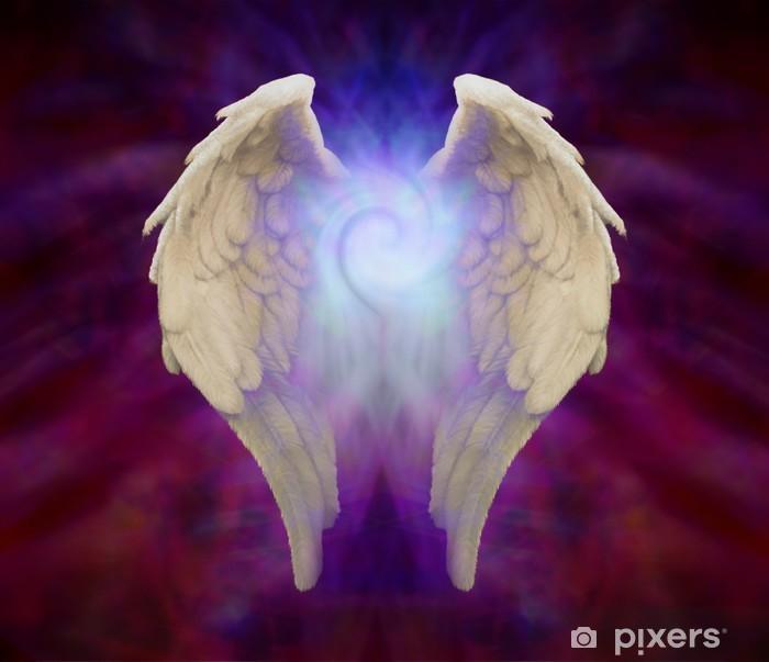 Papier peint vinyle Ailes d'ange et Universal spirale - Religion