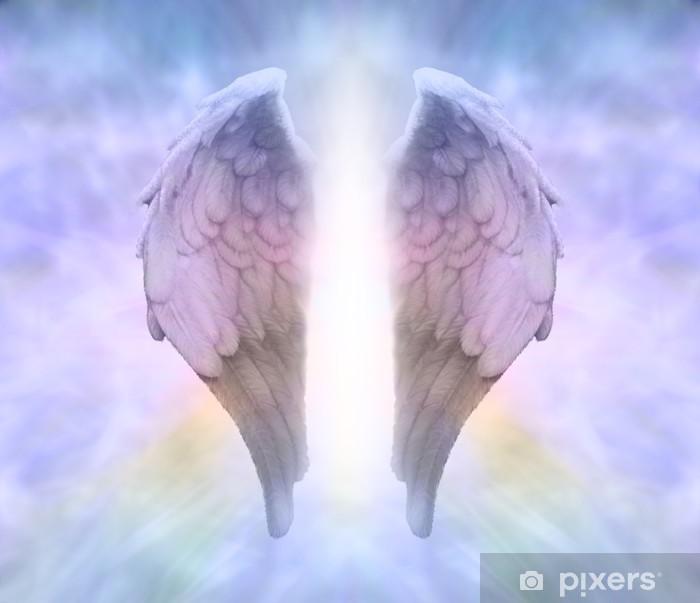 Papier peint vinyle Ailes d'ange et la Lumière Divine - Religion