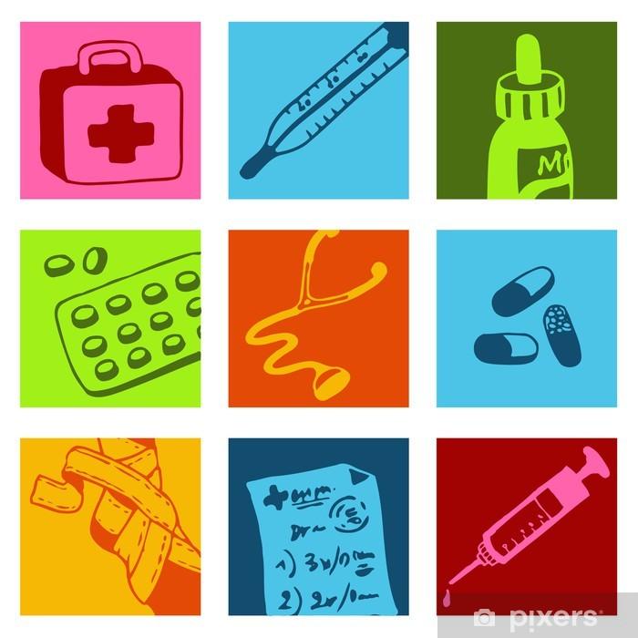 Poster Picto médicale - Santé et médecine