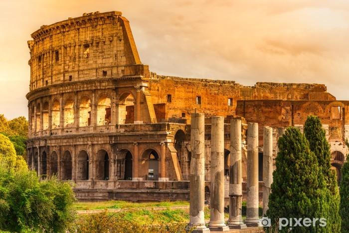 Naklejka Pixerstick Majestatyczny Koloseum, Rzym, Włochy. - Tematy