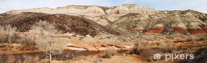 Papier peint vinyle Panorama des formations de roche rouge dans Capitol Reef National Pa - Amérique
