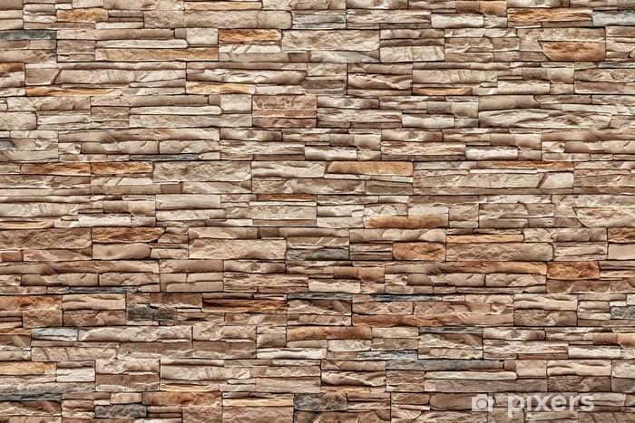 Papier peint vinyle Brown mur de briques, couleur naturelle - Industrie lourde