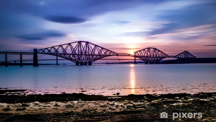 Fototapeta winylowa Forth Bridge o zachodzie słońca - Tematy