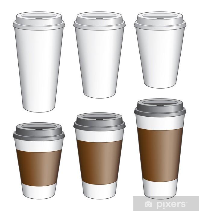 Coffee To Go Cups Sticker Pixerstick