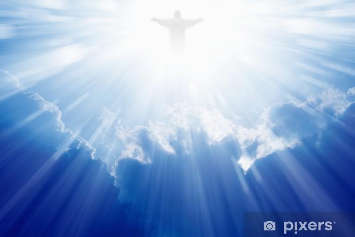 Pixerstick Sticker Jezus Christus in de hemel - Religie