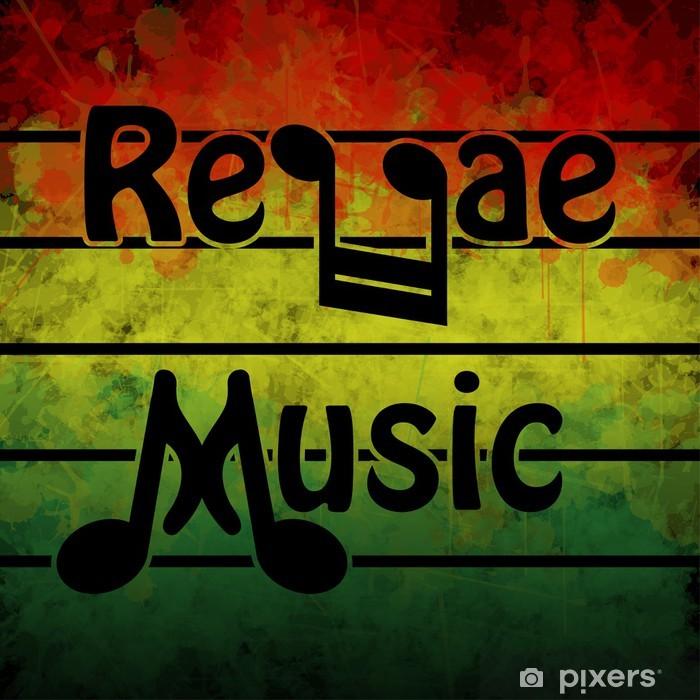 Papier peint vinyle Musique reggae -