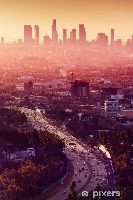 Papier peint vinyle Los Angeles - Californie City Skyline - Thèmes