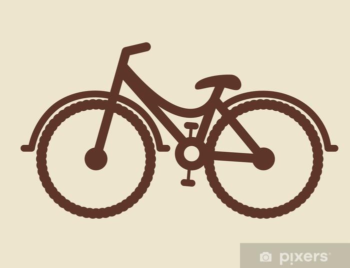 Sticker Pixerstick Conception vélo - Sur la route