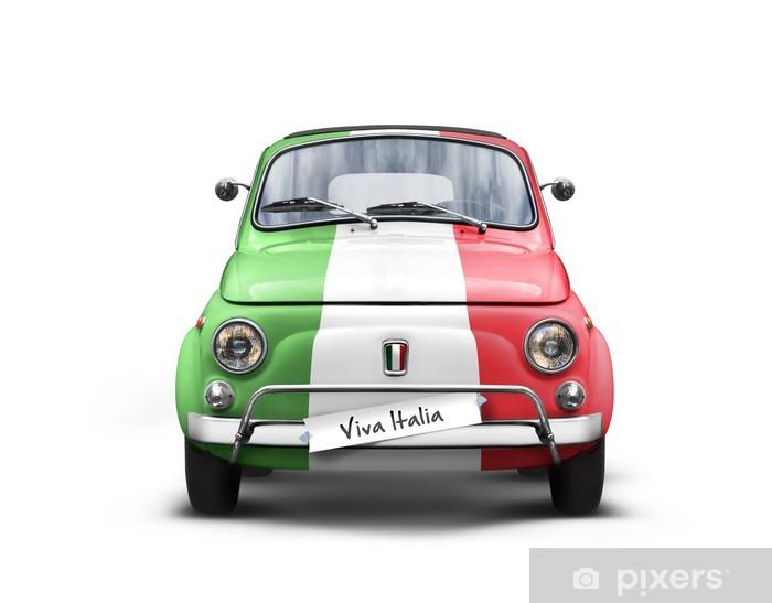 Voiture Italienne sur Fond Blanc Pixerstick Sticker - Europe
