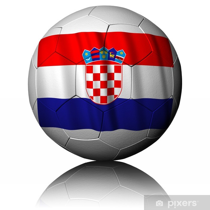 Pallone Calcio_Croazia Lack Table Veneer - Sports Items