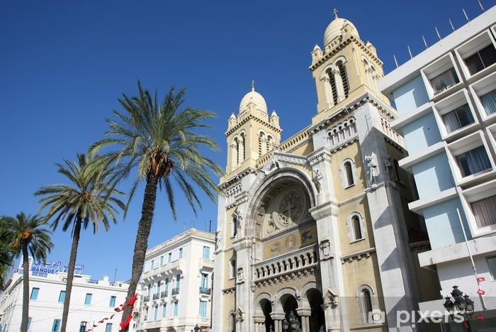Vinyl Fotobehang Cathedra van St Vincent de Paul in Tunis - Afrika