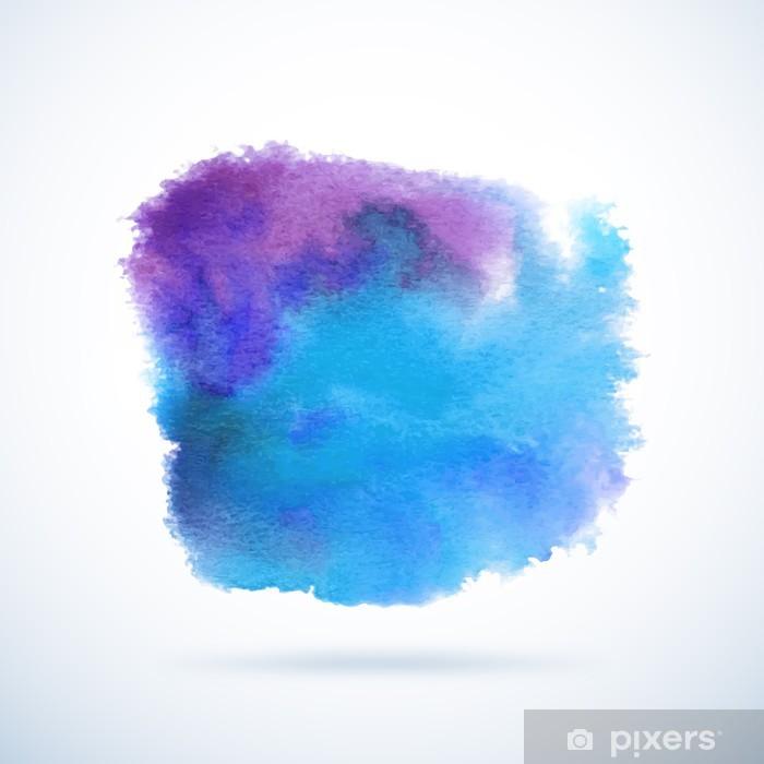 Poster Vecteur de fond d'aquarelle. Résumé blob grunge - Thèmes
