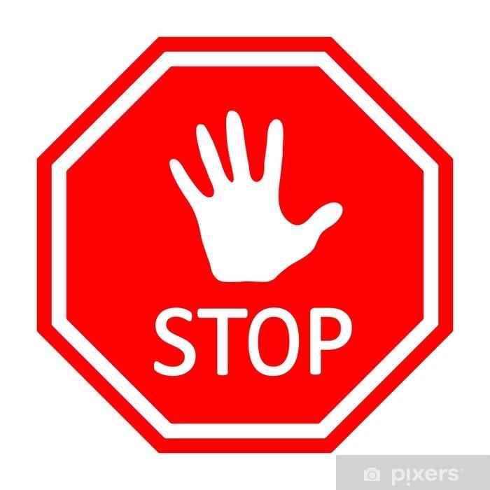 Aufkleber Verkehrs Stop Schild Vektor Eps10 Pixerstick