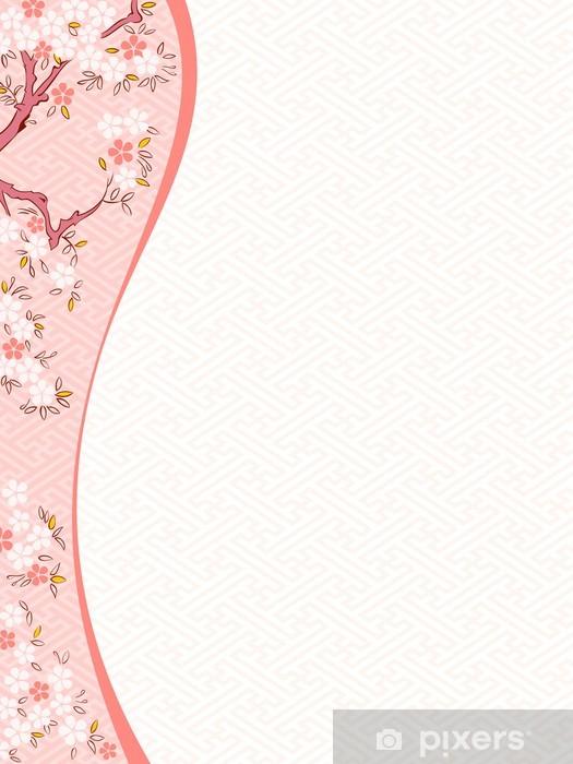Vinylová fototapeta Třešňový květ šablona - Vinylová fototapeta