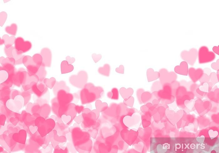 Vinilo Pixerstick Día De Color Rosa De Fondo De Corazones
