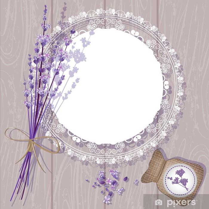 Pixerstick Sticker Vector Achtergrond van de Lavendel - Stijlen