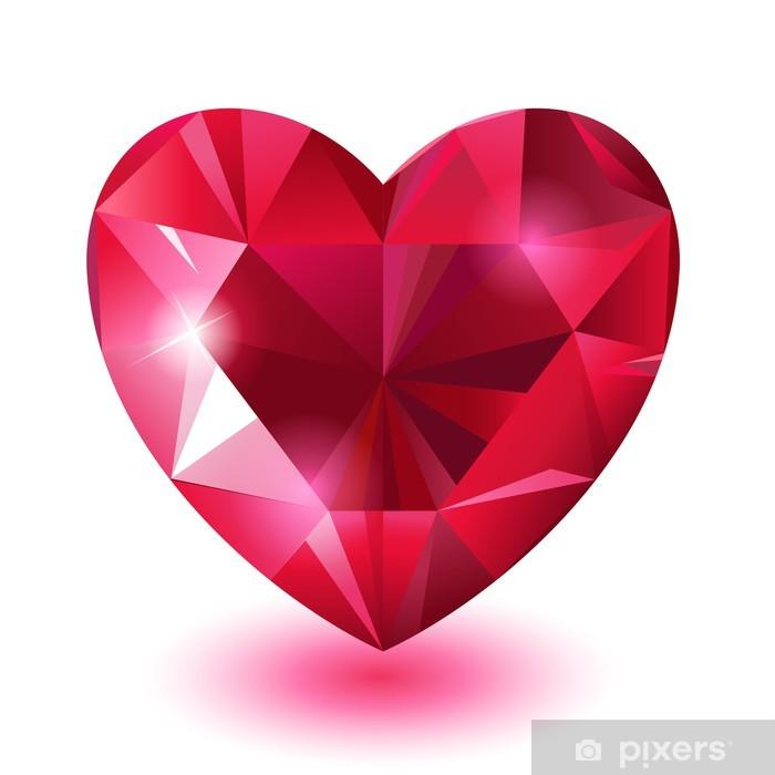 Naklejka Pixerstick Serce diament - Szczęście