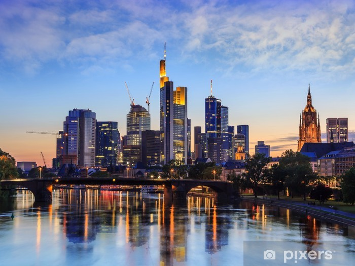 Frankfurt Skyline, Germany Pixerstick Sticker - Germany