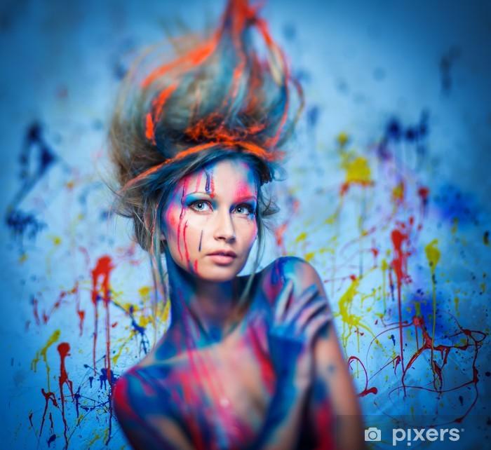 Fotomural Mujer Musa Con El Arte Corporal Creativa Pixers