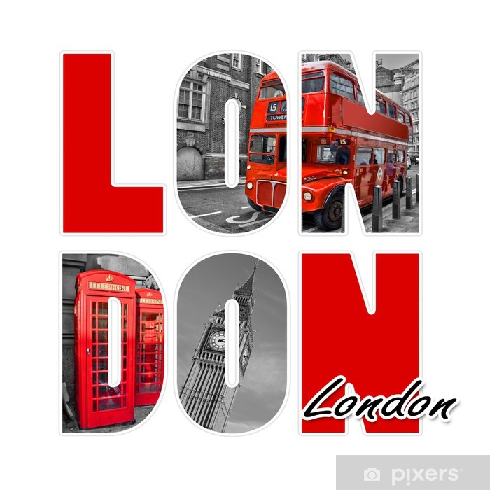 Papier peint vinyle Londres isolé sur blanc - Villes européennes