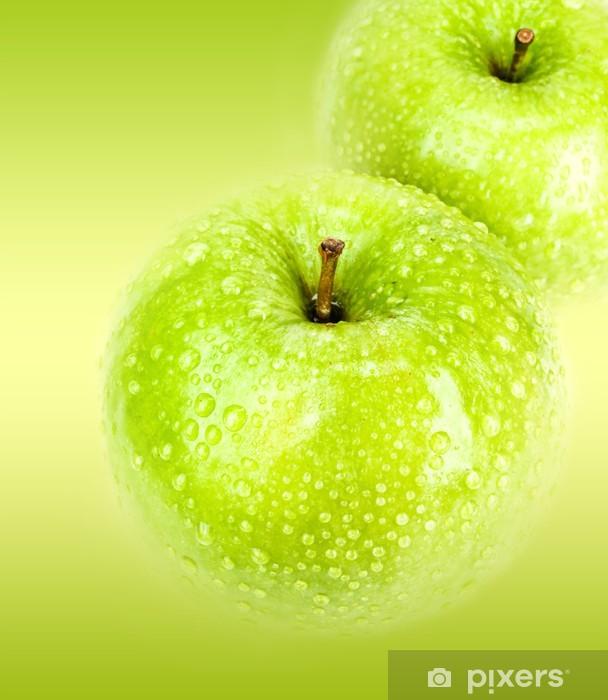 Naklejka Pixerstick Zielone jabłko - manzana verde - Owoce