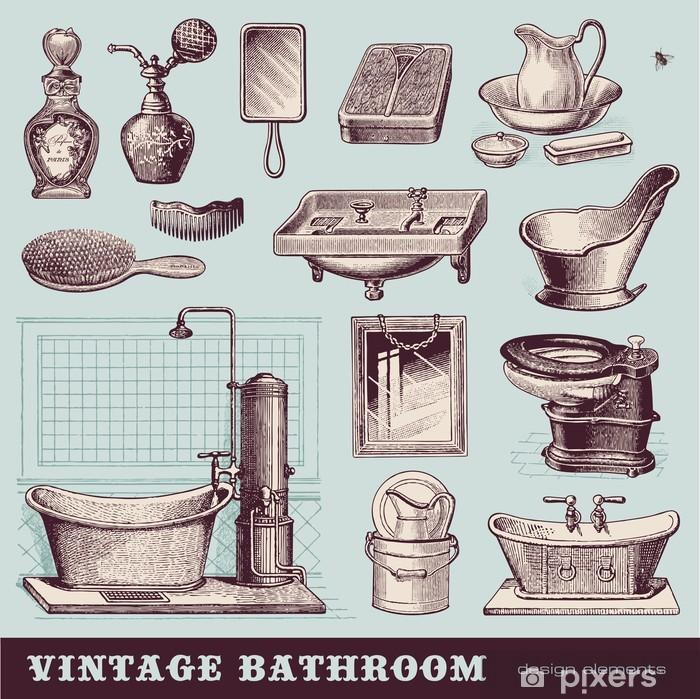 Poster Salle De Bain Vintage Meubles Et Accessoires Pixers Nous Vivons Pour Changer