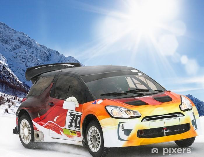 Sticker Pixerstick Rallye sulla neve - Sports extrêmes