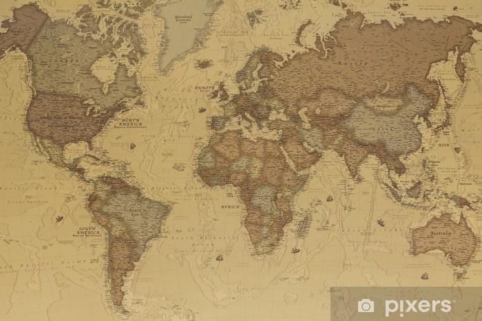 Cartina Antica Mondo.Carta Da Parati Mappa Del Mondo Antico Pixers Viviamo Per Il Cambiamento