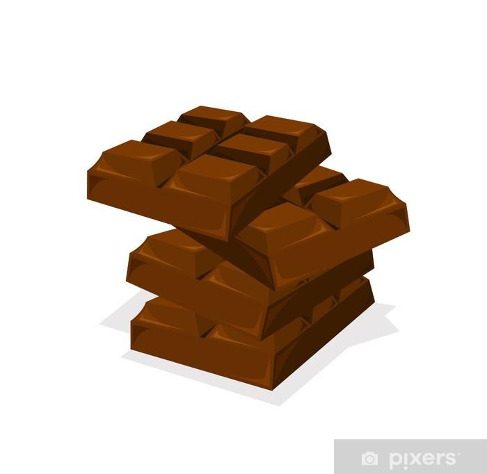Papier peint vinyle Pile de barre de chocolat vecteur - Repas