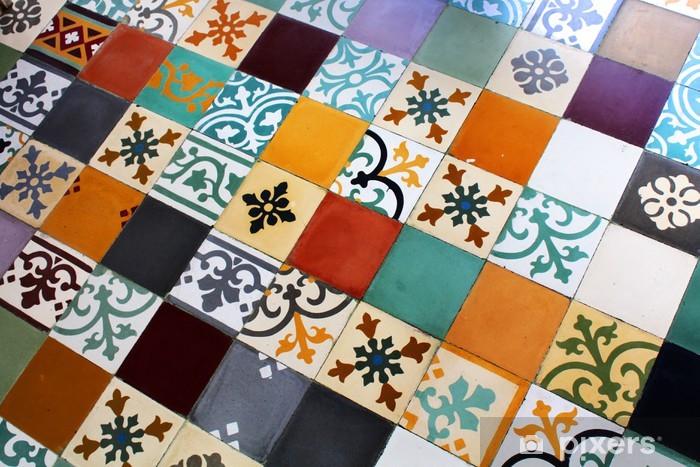 Carreaux de ciment - Cement tiles Pixerstick Sticker - Textures