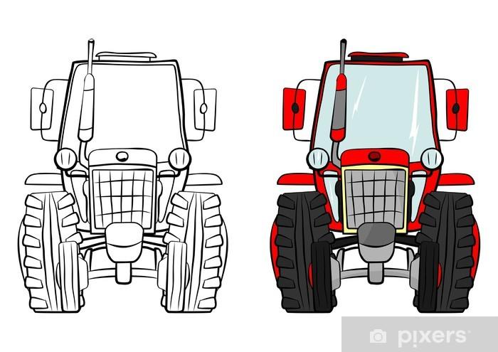 Papier peint vinyle Tracteur dessin animé - Agriculture